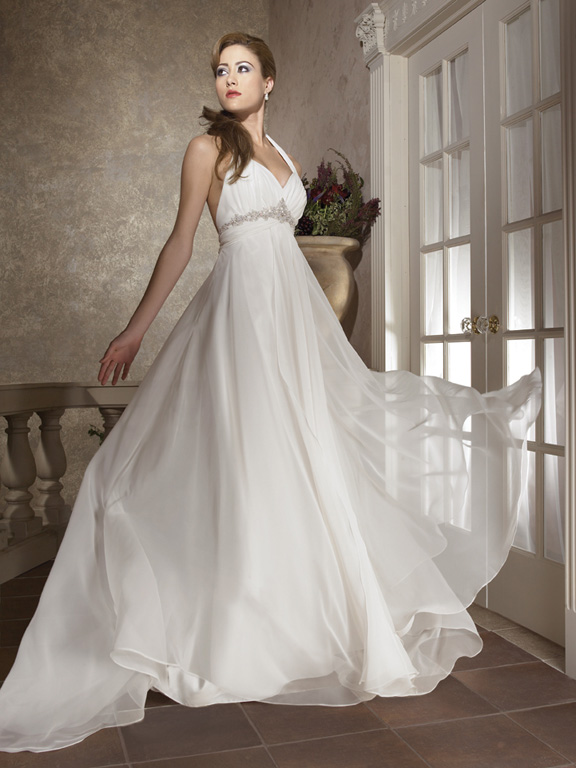 Orifashion HandmadeFairy Wedding Dress with Halter strap AL174
