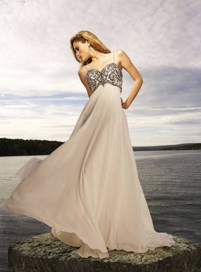 Orifashion HandmadeFairy Silk Chiffon Wedding Dress AL076