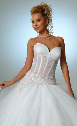 Orifashion HandmadeLuxury Sexy Bridal Gown with Swarovski Beads