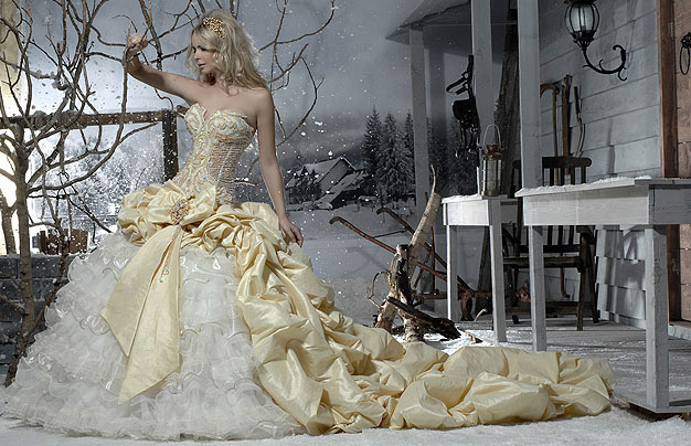Orifashion HandmadeDramatic Sexy Bridal Gown with Swarovski Crys